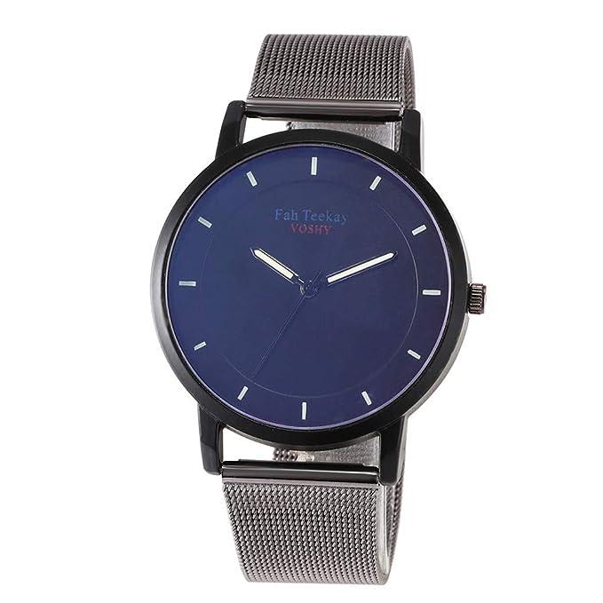 DAYLIN Relojes de Hombre de Marca Grandes Esfera Azul Relojes ...