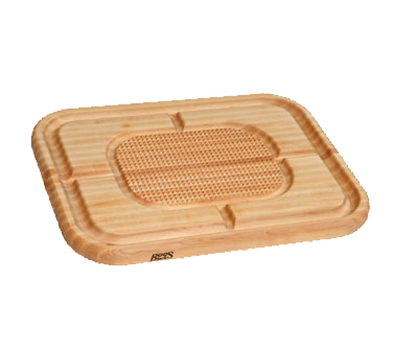John Boos Carving Collection Pyramid Design Reversible Maple Cutting Board with Juice Groove, 24'' x 18'' x 1.5 Inches