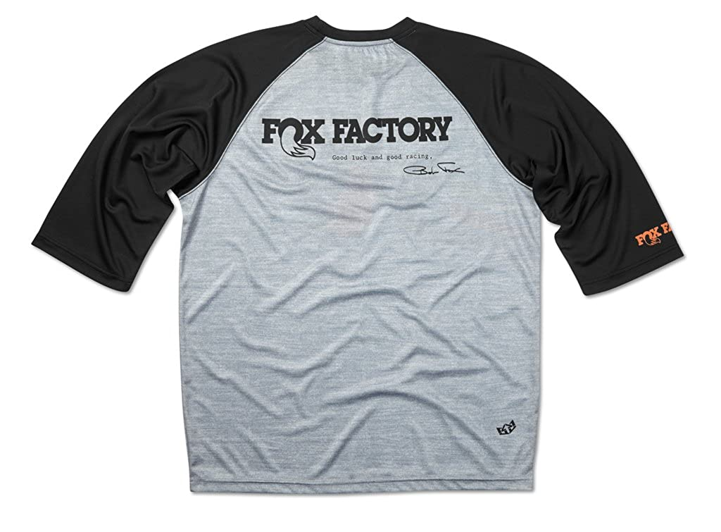 036c867ddd0 Amazon.com  FOX Heritage 3 4 Sleeve Jersey S Heather Black  Clothing