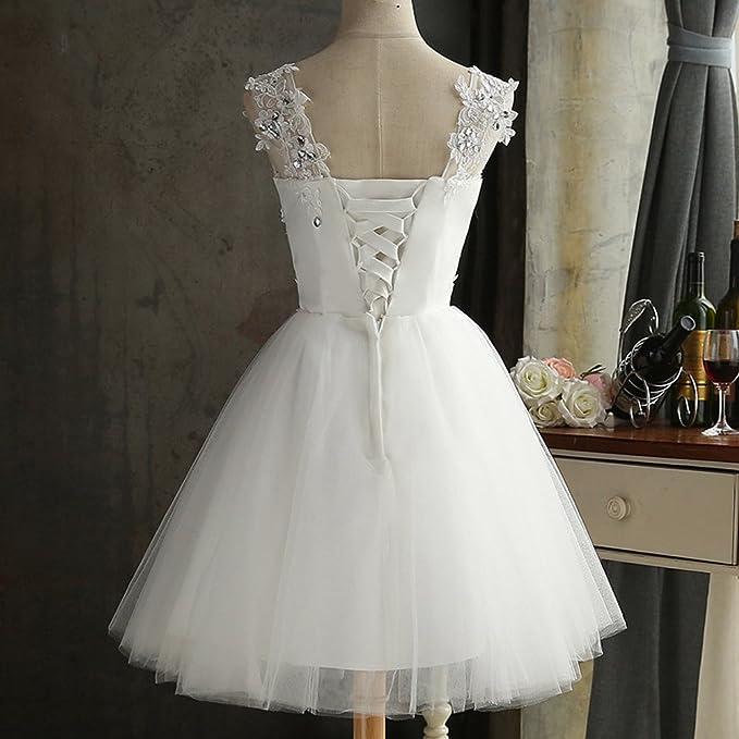FOLOBE Vestido de novia de la boda del cord¨®n de la vendimia de