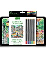 Crayola Signature Series Blend & Shade Coloured Pencils in Decorative Tin, Soft Core Pencil Crayons, 50 Count, , Adult Colouring, Bullet Journaling, School and Craft Supplies, Drawing Gift for Boys and Girls, Kids, Teens Ages 5, 6,7, 8 and Up, Holiday Gifting, Stocking , Arts and Crafts, Ea