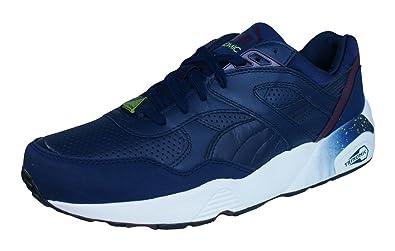 d2e2b733e8a7 Puma R698 Leather Chaussures Mode Sneakers Homme Cuir Bleu Trinomic ...