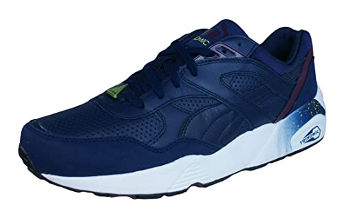 44aff4c7b48c Puma R698 Leather Chaussures Mode Sneakers Homme Cuir Bleu Trinomic ...