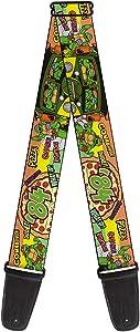Teenage Mutant Ninja Turtles Ninja Turtles Pose14 84 Pizza Verbiage, 2 Inches Wide Guitar Strap (GS-WNT063)