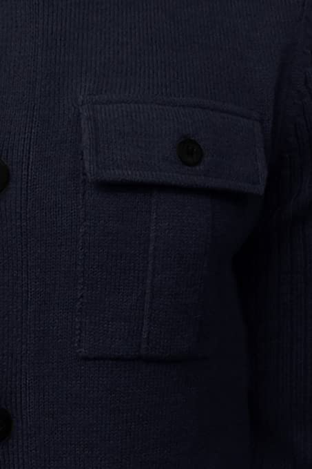 b2a4eea7eece5 Mens Dissident Brooke Knitted Funnel Neck Button Up Jumper  Amazon.co.uk   Clothing