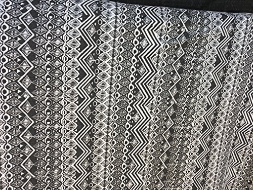 Knit Stretch Black/white Fabric Box Line Design Design Color 2 Yard 58' Wide-Table Cloth, Bed Spread ETc,