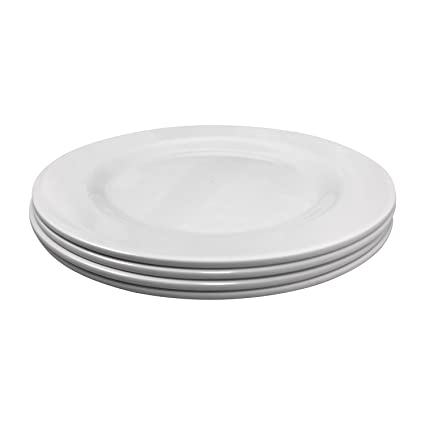Clever Home White Melamine 11 in Round Dinner Plates - Set of 4  sc 1 st  Amazon.com & Amazon.com | Clever Home White Melamine 11 in Round Dinner Plates ...