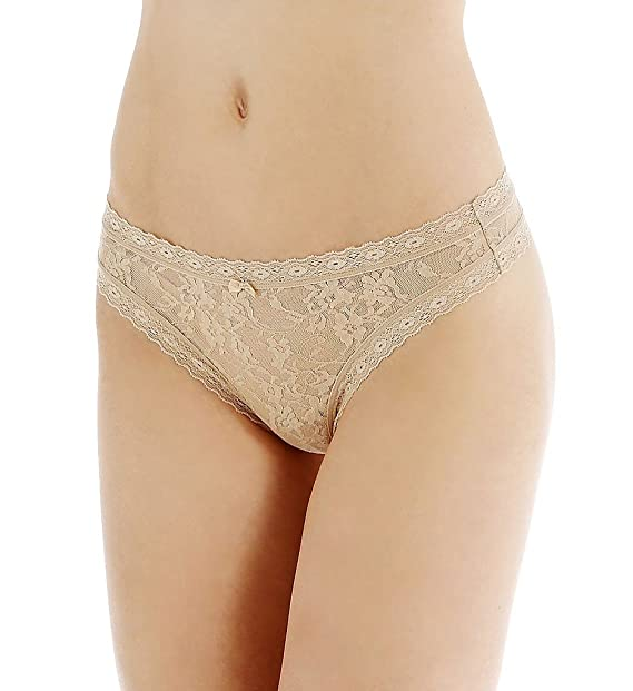74ec99d210d0 DKNY Intimates Women's Signature Lace Thong 576000 Skinny Dip Thongs SM at Amazon  Women's Clothing store: