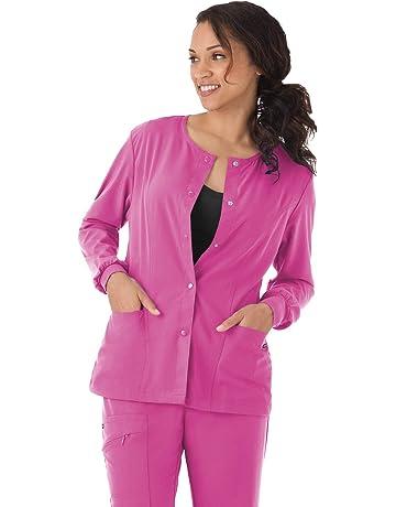 87d5337e165 Jockey 2356 Women's Rounded Neckline Snap Scrub Jacket - Comfort Guaranteed