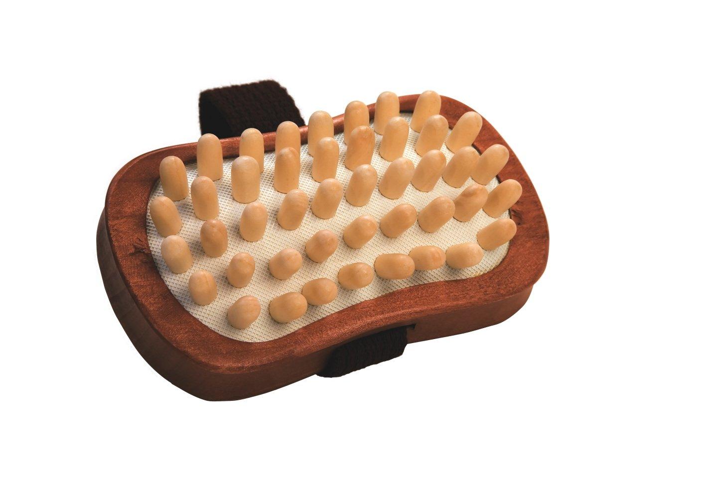 Croll & Denecke 60093 Cellulite-Handbürste mit Holznoppen