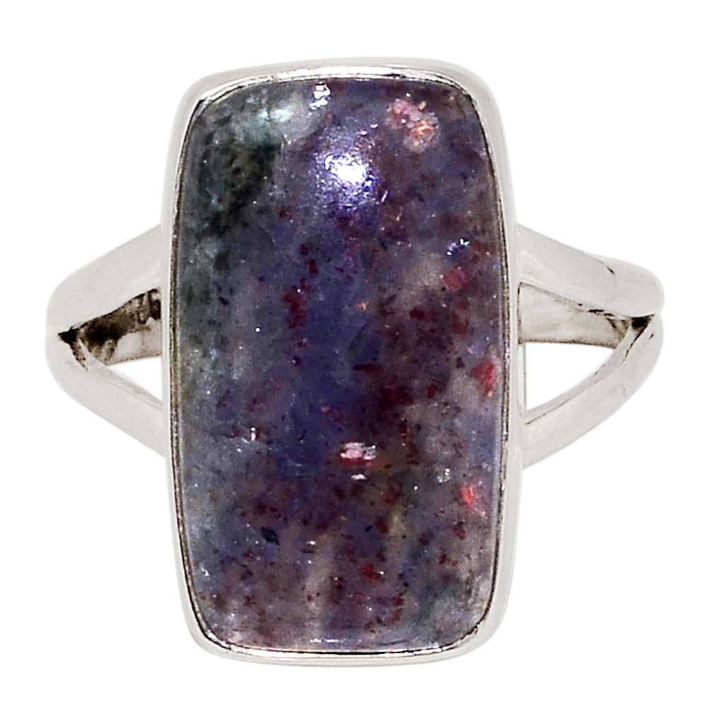 Xtremegems Sunstone in Iolite 925 Sterling Silver Ring Jewelry Size 8.5 29729R