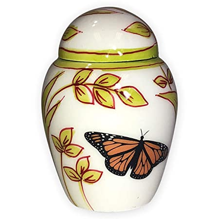 Beautiful Life Urns Garden Butterfly Keepsake Urn for Ashes – Small Size – NOT Intended for Full Cremation Ash Quantity