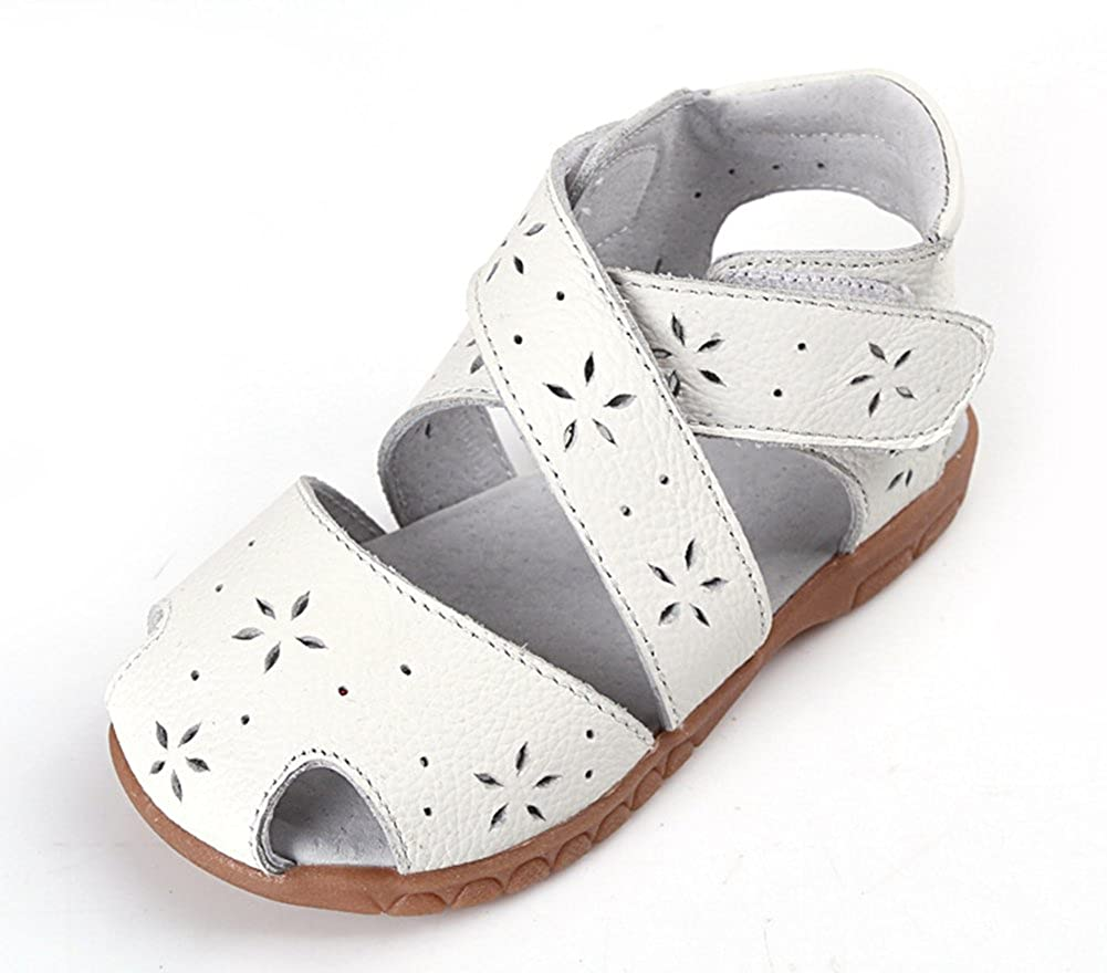 Mubeuo Skidproof Leather Sandle Little Girls Toddler Sandals