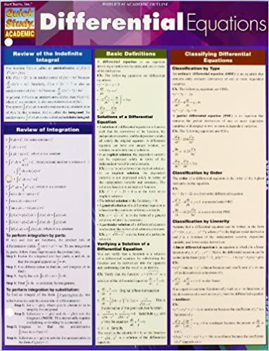 Differential Equations (Quick Study: Academic): Inc. BarCharts ...