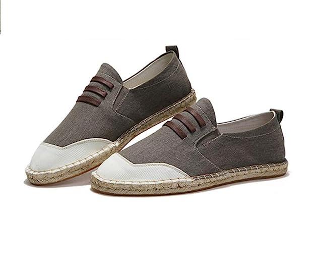Alpargatas para Hombre,Estilo Chino Loafer Pisos Casual Suela de Lino Zapatos de Lona para Hombres: Amazon.es: Zapatos y complementos