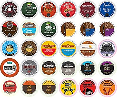 30-count K-Cup All REGULAR Coffee Variety Pack Featuring Green Mountain, Coffee People, Newman's Organic, Emerils, Tim Horton's, Guy Fieri, Marley Coffee, Tully's & More
