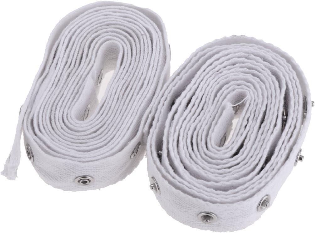 IPOTCH 6 M/ètres Ruban en Tissu avec Boutons-Pression D/écor Couture V/êtements Loisir Cr/éatif DIY