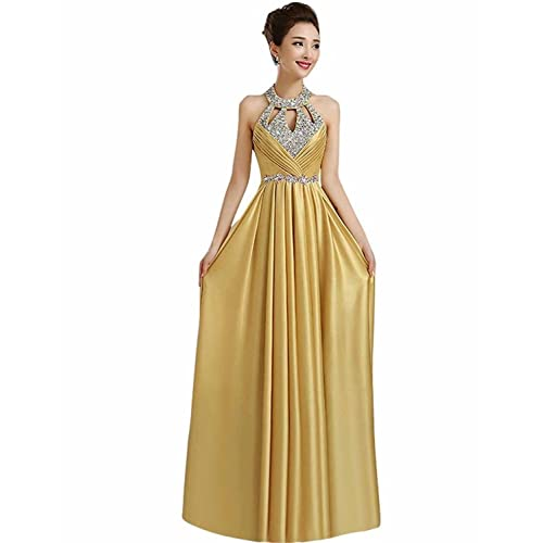 Manfei Womens Prom Dress 2018 Beaded Long Formal Evening Gown