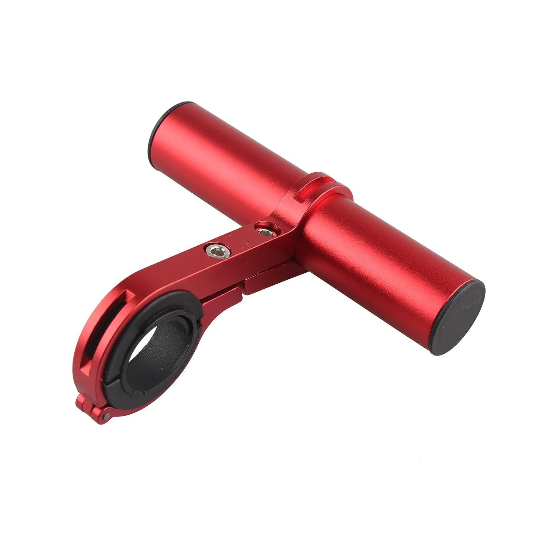 Multifunzione aluminum mountain bike manubrio Extender bici accessori per lampada bicicletta altoparlante del telefono GPS supporto a staffa di rosso HALJIA