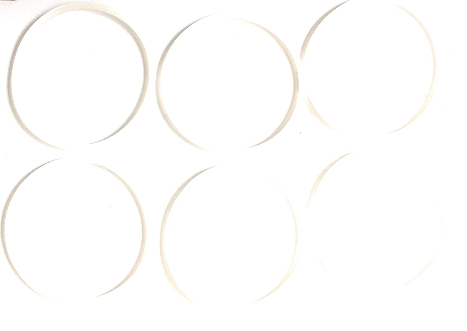 FAB INTERNATIONAL 6 Pack Sensio 13330,13586,13606,13615,10029 Bella Cucina Replacement Gasket