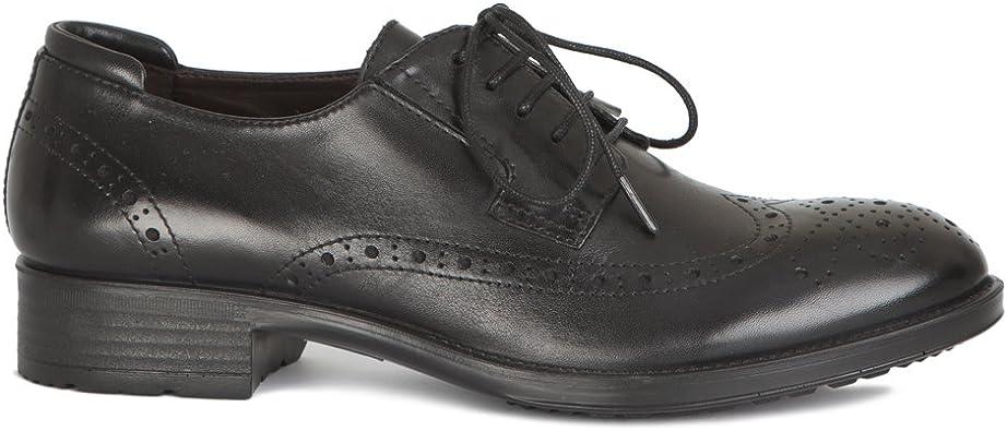 chaussure de ville a lacet femme noir