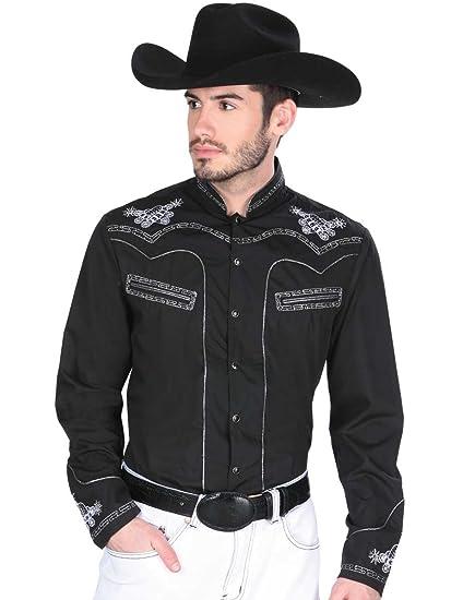 Camisa Vaquera (Charra Shirt CCH) L/Sleeve ID 33792 Montenegro Black (S