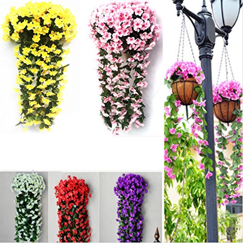 Violet-Artificial-Decoration-Simulation-Valentines-Day-Wedding-Wall-Hanging-Basket-Flower-Orchid-Silk-Fake-Flower-White