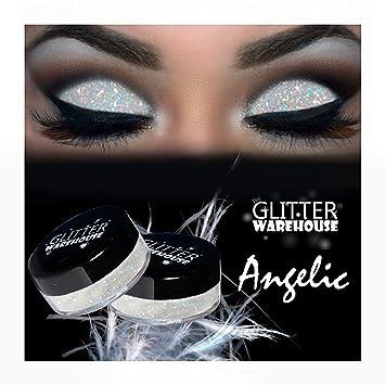 Amazon Com Angelic Glitterwarehouse White Irredescent Loose