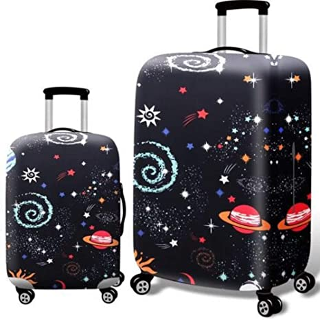 Tookkata XL :Fits 29-32 Inch, 16# Black Backgrond 1 PCS 18-32 Luggage Protector Elastic Colorful Trolley Suitcase Cover Bag Dust proof NEW
