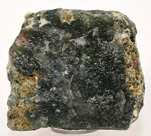 85mm Green Blue White Moss Agate Rough Stone Natural Chalcedony Crystal Druzy Mineral Rock - India