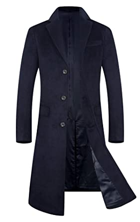 Men's Clothing 2019 Winter Wool Coat Mens Business Casual Single Breasted Slim Fit Long Trench Coat Men Brand England Style Coat Discounts Price