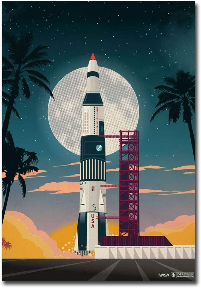 "Cape Canaveral Vintage Travel Art Refrigerator Magnet Size 2.5"" x 3.5"""