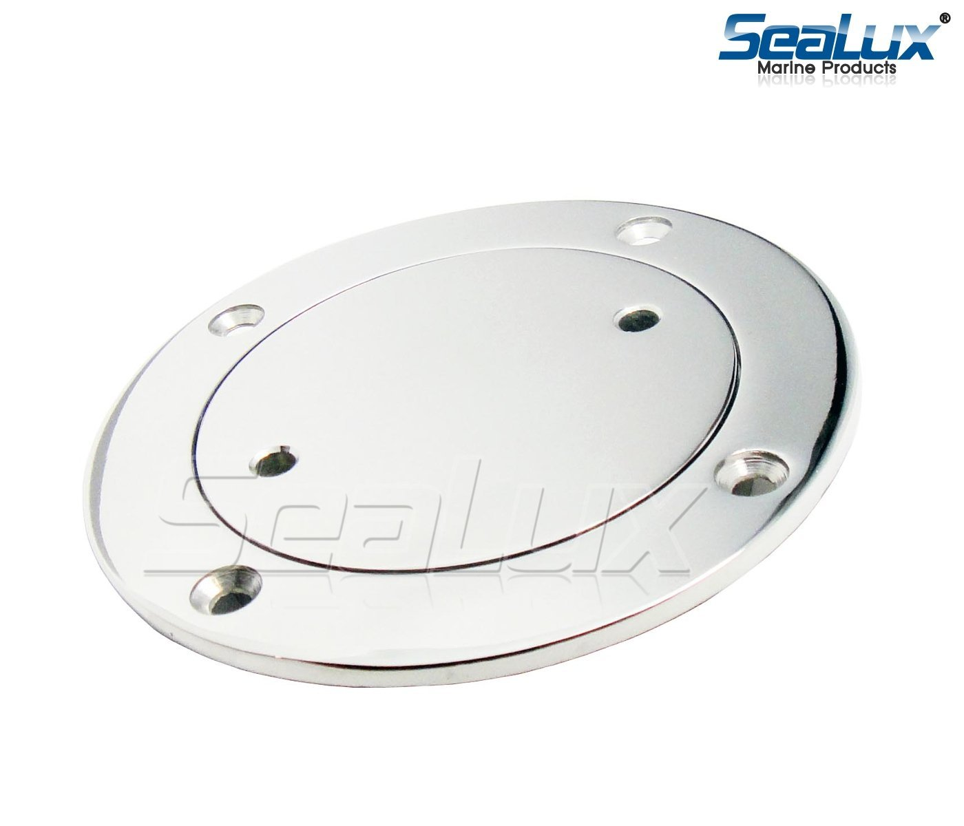 SeaLux 316 Stainless Steel Deck Plate for Cowl Vent, Dorade Box vent, (I.D. 4'') by SeaLux Marine Products