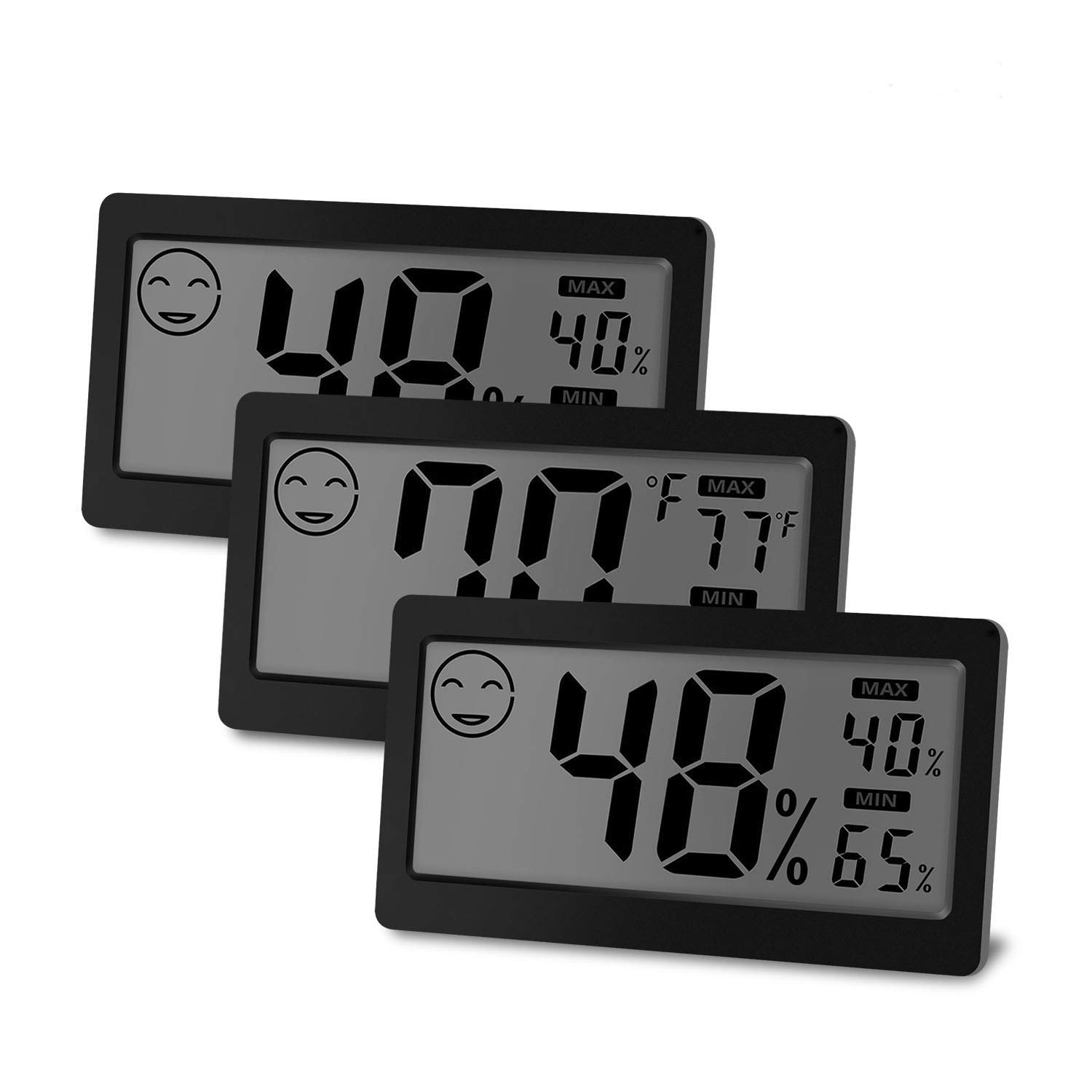 JLENOVEG Digital Indoor Thermometer Hygrometer Temperature and Humidity Display with 3.3 inch LCD Table Standing Magnet Attaching for Household Office Gym Kitchen (3)