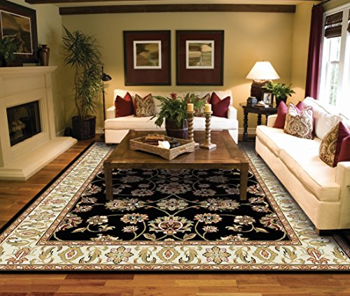 Throw Rugs At Dollar General: Traditional Black Area Rugs For Living Room Area Rugs 5x7