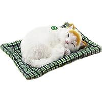 Simulación gato juguetes de peluche como modelo de decoración para el hogar, decoraciones de coches (Gato amarillo del oí 25x20cm)
