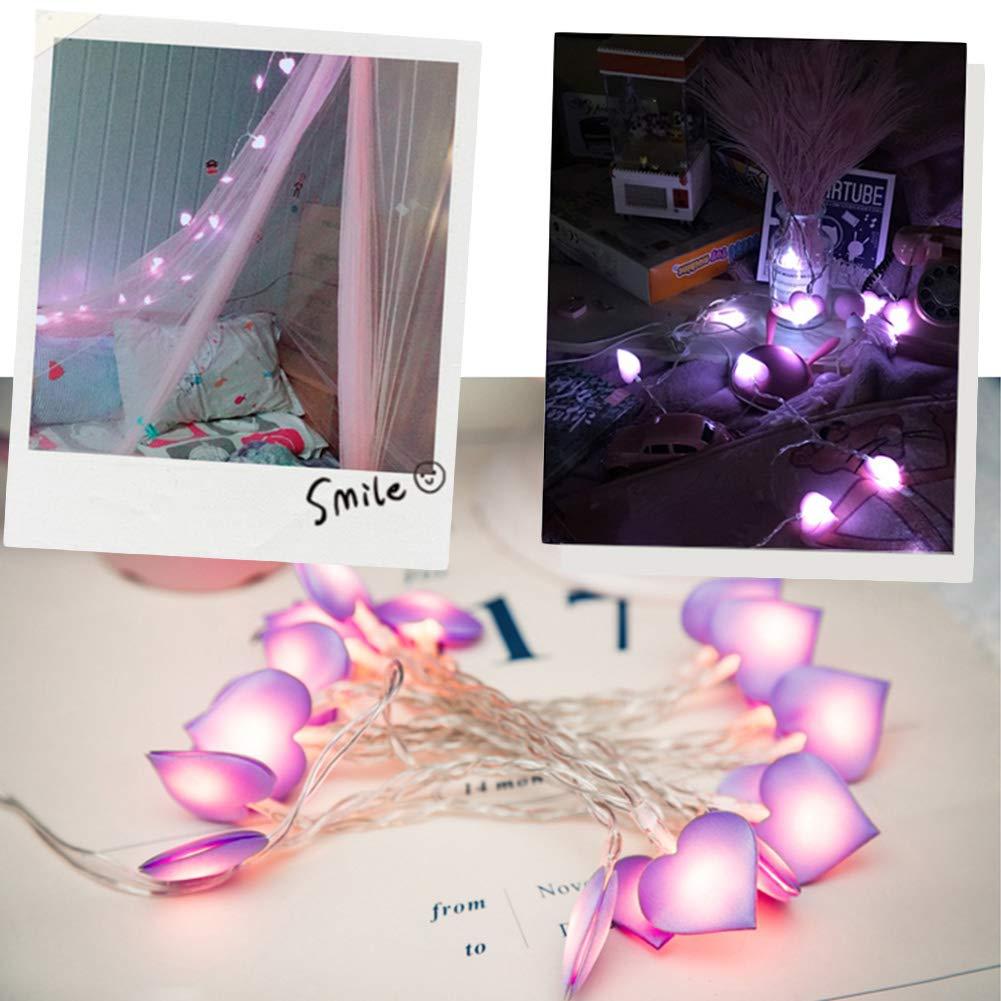 BovoYa luz Nocturna Guirnalda de Luces con Forma de coraz/ón para ni/ñas Bodas Fiestas 3 Pilas AA dormitorios Navidad decoraci/ón de casa