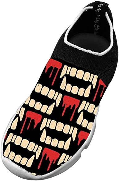 XieZbd Kids Ones Bloody Mouth Cool Fly Knit Sneaker Shoes Leisure