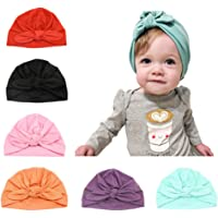 Baby Hats Girls 6 Pcs Turban Cap Cute Head Wrap for Infant Shower Gifts