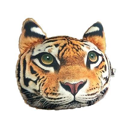 Cuscino Collo Da Viaggio Tiger.Odowalker Auto Collo Cuscino Con 3d Cartoon Cane Gatto Leopardo