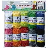 Sortiment Amigurumi Wolle 10 Knäuel a. 10g, 100% Baumwolle, Garn, Strickwolle, Häkelgarn, 2870-01