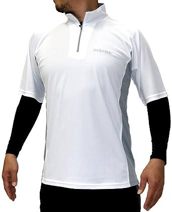 c8fa4434a1e2f8 [ケイパ] ランニングウェア コンプレッション インナー スポーツ Tシャツ セット メンズ ホワイト M