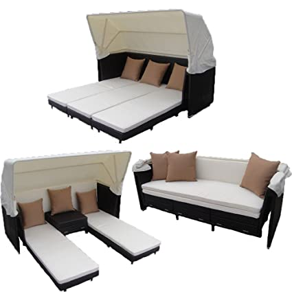 Pleasing Amazon Com Outdoor Furniture Now Curacao Canopy Bed And Caraccident5 Cool Chair Designs And Ideas Caraccident5Info
