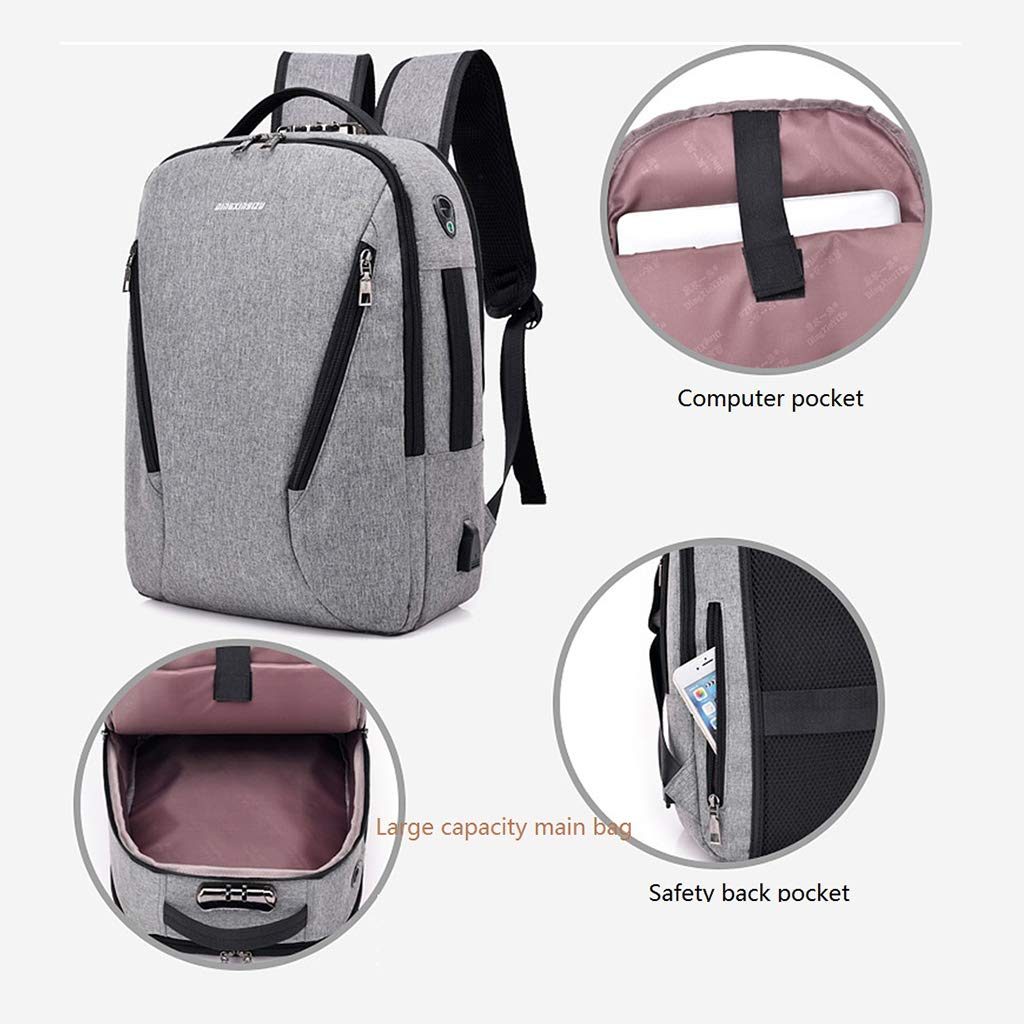 Amazon.com: Travel Laptop Backpack Business Anti Theft Slim Durable Laptops Backpack with USB Charging Port Headphone Wire Hole Backpack Water Resistant ...