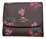 Coach Wildflower Print Small Wallet Oxblood 1 F15563
