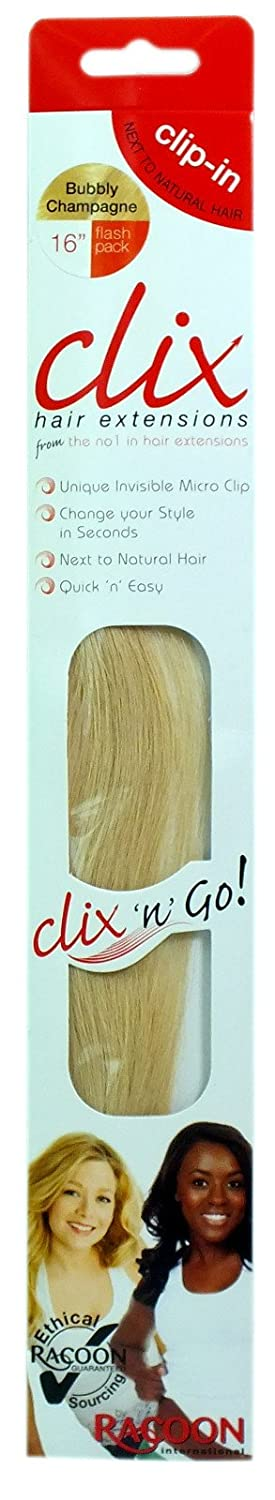 Racoon International Professional Clix N Go Clip In Hair Extensions