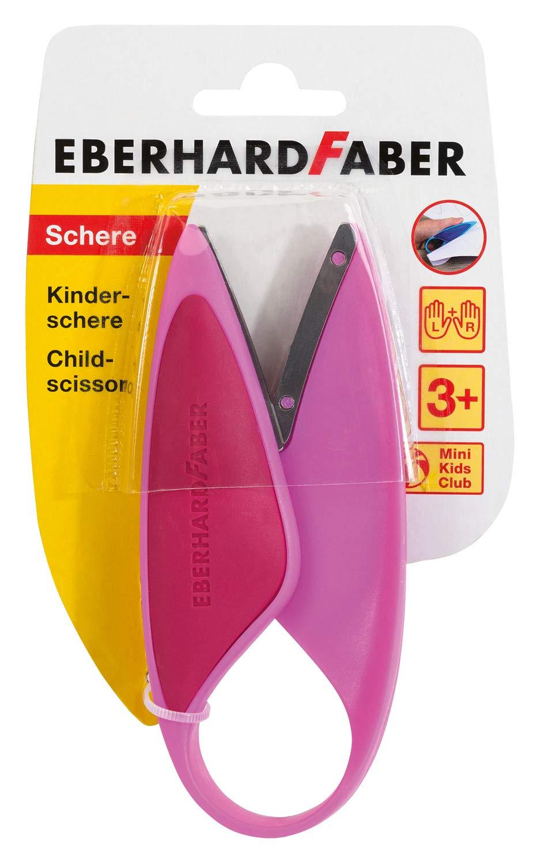 Forbici per Bambini per Mancini e destrorsi Eberhard Faber 579928 Colore: Rosa perfette per Il Taglio e Il Fai da Te