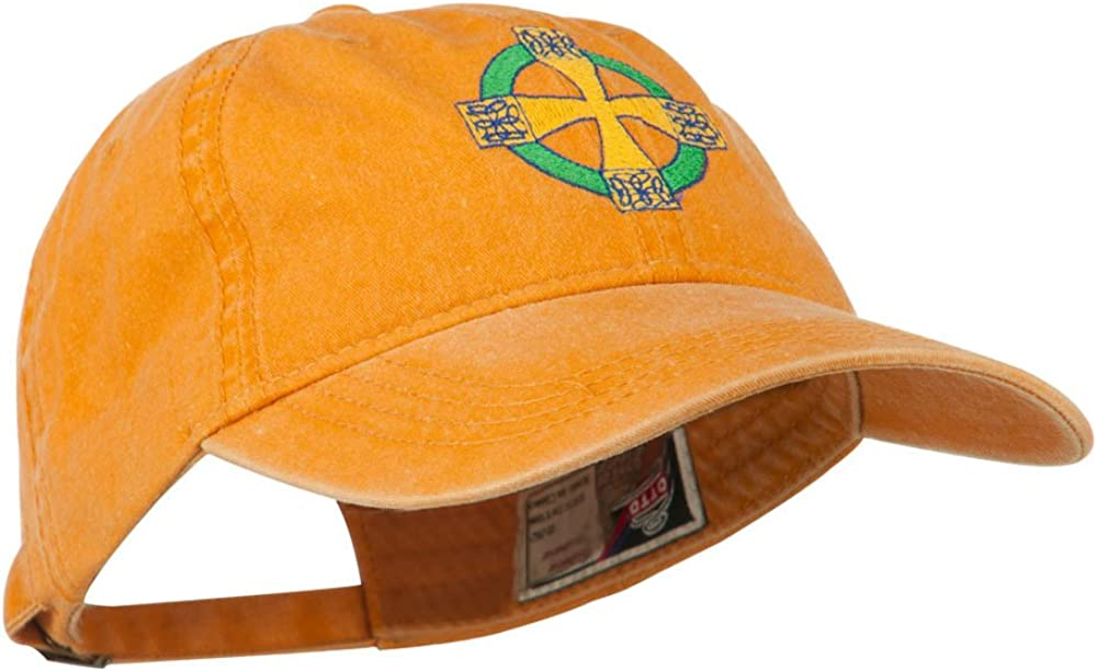 Celtic Cross Embroidered Washed Cap