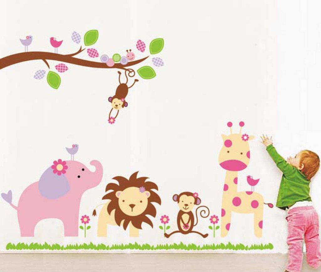 Decals Design StickersKart Wall Stickers Baby Cartoon Animal