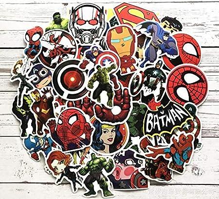 Lot De 100 Autocollants De Dessin Anime Marvel Super Hero Dc Pour